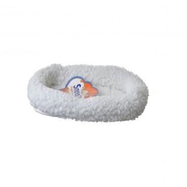 Precision Pet Snoozy Pet Bed Original Bumper Bed - White - Mini 17.5 L X 11.5 W