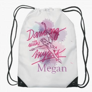 Dancing Ballerina Drawstring Gym Bag