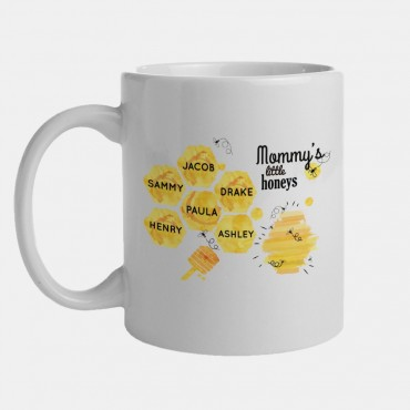 Mommy's Little Honeys Personalized Honey Bee Mug