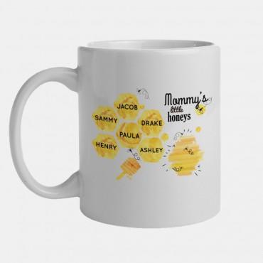 Mommy's Little Honeys Personalized Honey Bee Mug