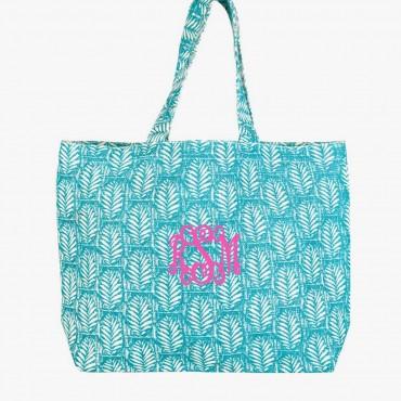 Monogrammed Large Jute Tote Bag