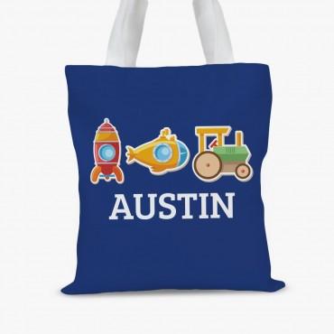 My Little Working Man Custom Kids Tote Bag