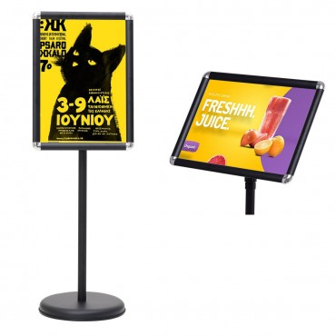 9.5 In. x 13 In. Adjustable Aluminum Pedestal Poster Stand