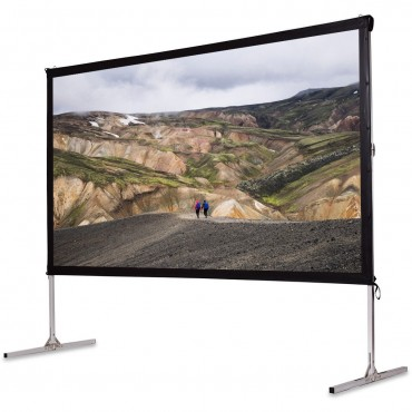 120 In. Standing Portable Fast Folding Projector Screen  W / Carry bag