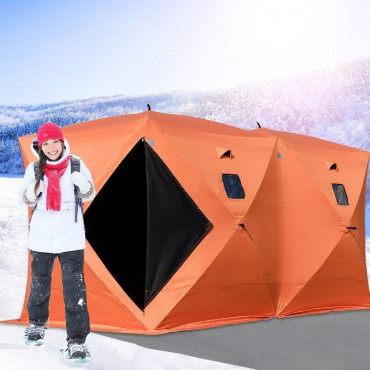 Waterproof Pop - Up 8-person Ice Shelter Fishing Tent