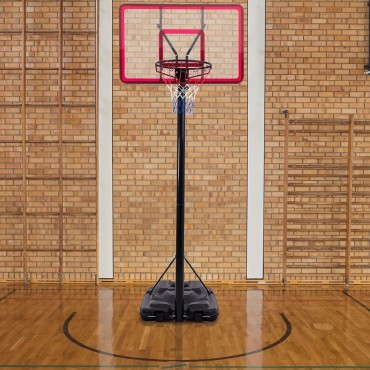 10 In. Height Adjustable Hoop Stand Basketball Backboard W / Wheels