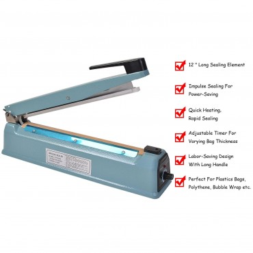 12 In. Heat Sealing Hand Impulse Sealer Machine