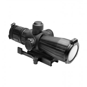 4X32 Rubber Compact with Red Laser/Blue Illuminated/P4 Sniper/Green Lens/Quick Release