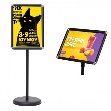 13 in. x 18 in. Graphics Adjustable Aluminum Snap Pedestal Poster Stand