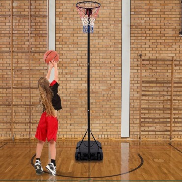 Kids Training Outdoor Height Adjustable Basketball Hoop Stand