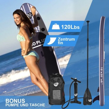 Goplus 10 Ft. Inflatable Stand Up Paddle Board SUP W / 3 Fins