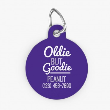 Oldie But Goldie Customized Round Pet Tag