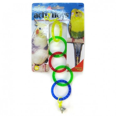 JW Insight Olympic Rings Bird Toy - Olympic Rings Bird Toy - 4 Pieces