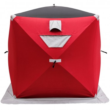 2-Person Portable Pop-up Ice Shelter Fishing Tent With Bag