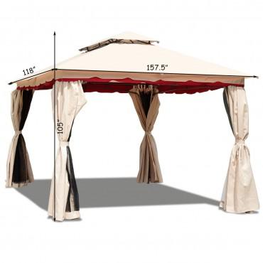 13 In. x 10 In. Outdoor Art Steel Frame Gazebo Canopy With Netting