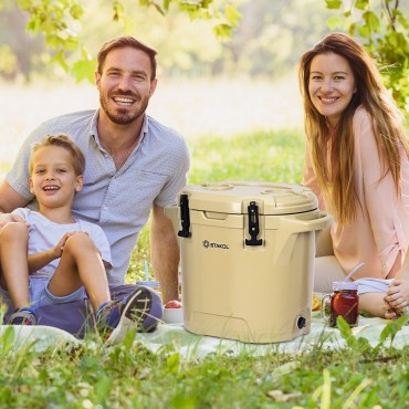 27 Quart Outdoor Insulated Bucket Cooler Ice Chest