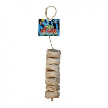 Wesco Pet Bird Kabob Bird Toy - Original - 6.75 in. Long x 2 in. Wide - 2 Pieces