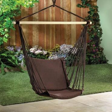 Outdoor Espresso Swing Chair