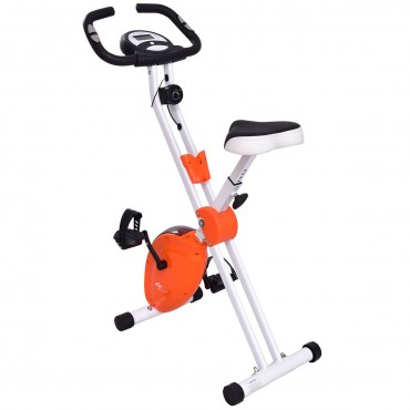 45 In. Folding Adjustable Resistance Magnetic Exercise Bike
