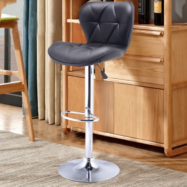 1 Pcs Adjustable Swivel PU Leather Barstools