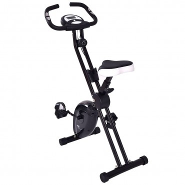 45 In. Folding Adjustable Resistance Magnetic Exercise Bike