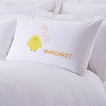 Personalized Baby Chick Pillowcase