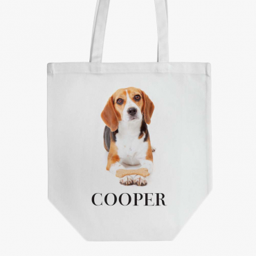 Personalized Beagle Cotton Tote Bag