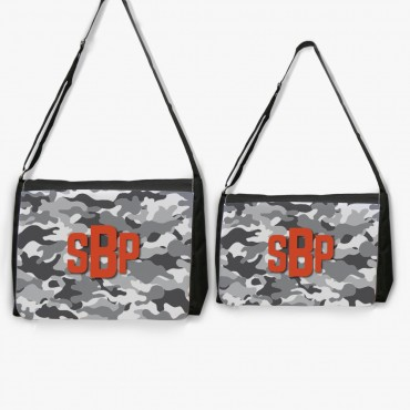 Personalized Camouflage Crossbody School Shoulder Bag