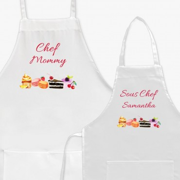Personalized Chef and Sous Chef Apron Set