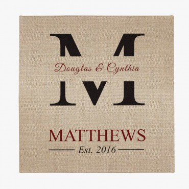 Personalized Couple Jute Wall Art