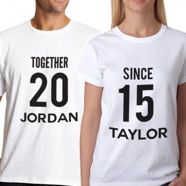 Personalized Couples Soul Mate T-Shirt - Set