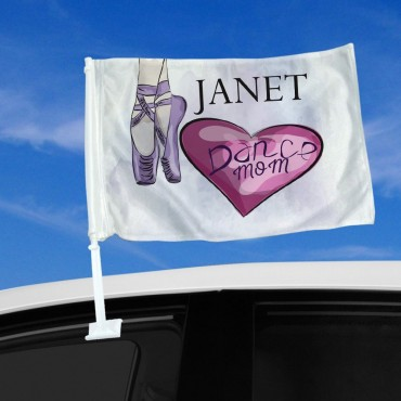 Personalized Ballerina Dance Mom Car Flag