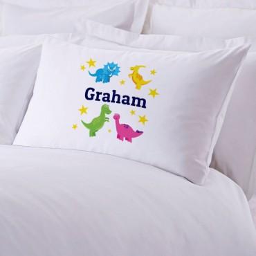 Personalized Dinosaurs Stars Pillowcase