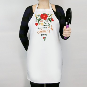 Personalized Do Not Disturb Nanna's Gardening Adult Apron