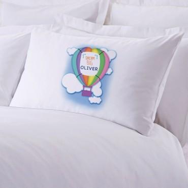 Personalized Dream Big Balloon Pillowcase