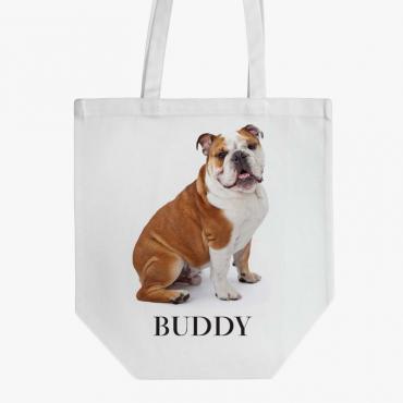 Personalized English Bulldog Cotton Tote Bag