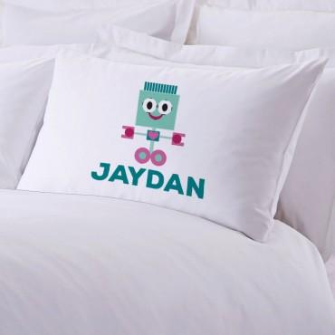 Personalized Friendly Robot Pillowcase