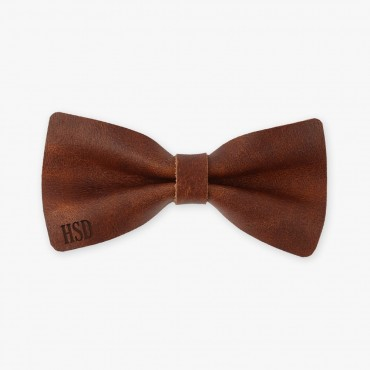 Personalized Genuine Leather Bow Tie