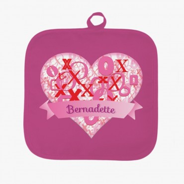 Personalized Hugs and Kisses Pot Holder