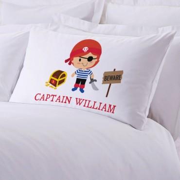 Personalized Kids Character Pirate Pillowcase