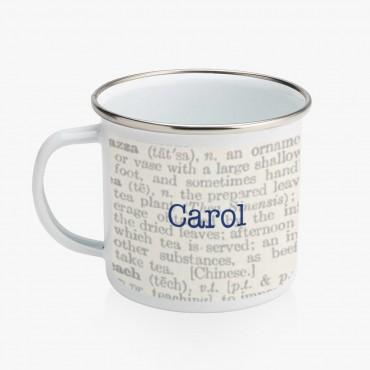 Personalized Life Enamel Coffee Mug