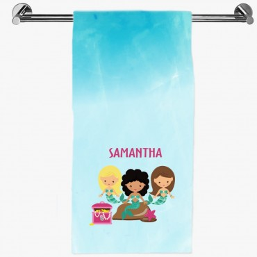 Personalized Mermaid Hand Towel