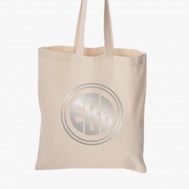 Personalized Metallic Economical Cotton Tote Bag
