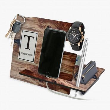 Personalized Wooden Design Desk Organizer