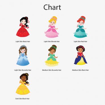 Personalized Princess Character Tote Bag