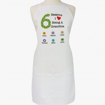 Personalized The Reasons Adult Apron for Mom and Grandma