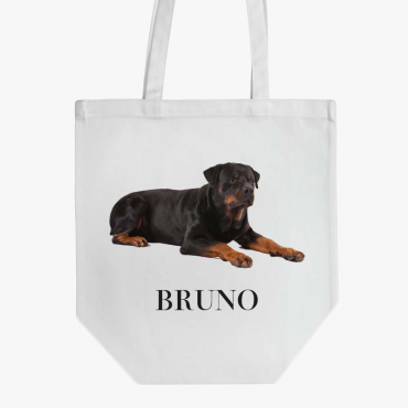 Personalized Rottweiler Dog Cotton Tote Bag