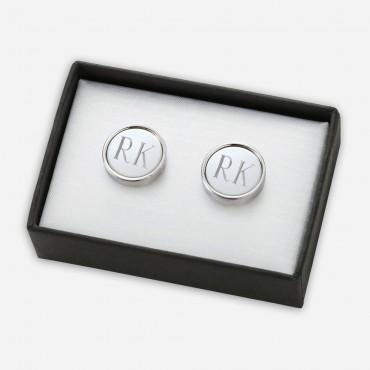 Personalized Metal Cufflinks in Black Gift Box