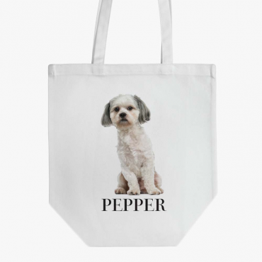 Personalized Shih Tzu Dog Cotton Tote Bag
