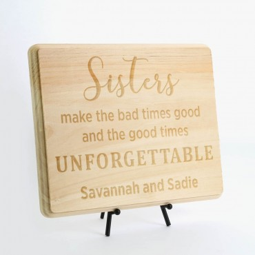 Personalized Sisters Wood Plaque